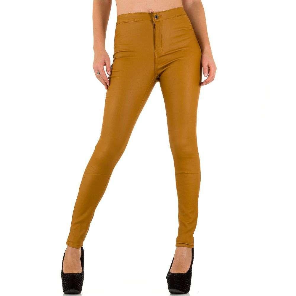 Женские джинсы скинни производителя Goldenim (Франция), Горчичный