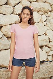 Женская футболка с V-образным вырезом 61-398-0