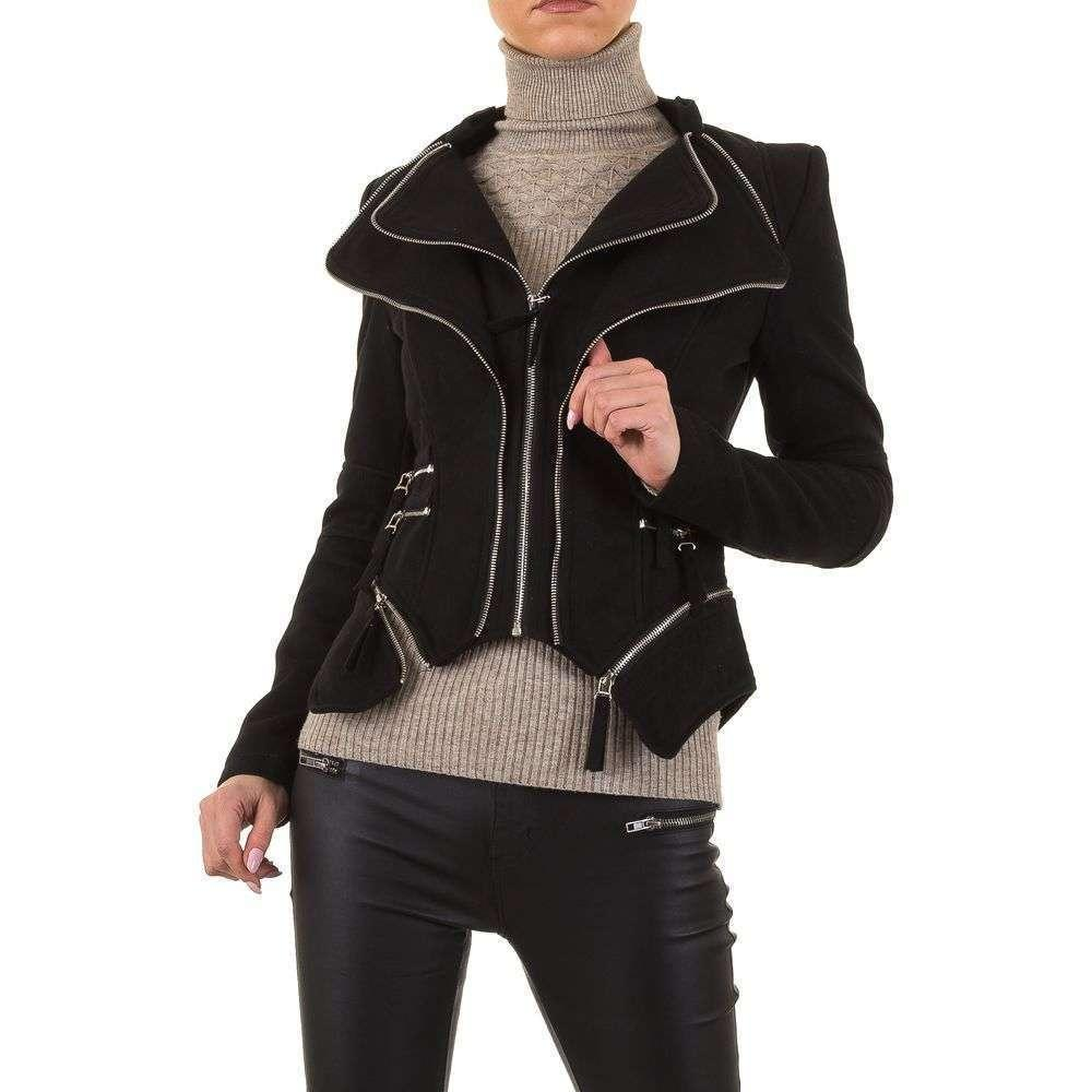 Куртка женская декорированная молниями Noemi Kent (Франция), Черный