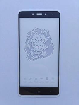 Защитное стекло Full Glue для Xiaomi Redmi Note 4 (МТК) с черной рамкой