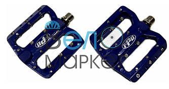 Педалі FPD модель 393 МТБ на пром підшипниках / сині