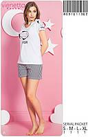 Комплект женский пижама из футболки и шорт  VIENETTA