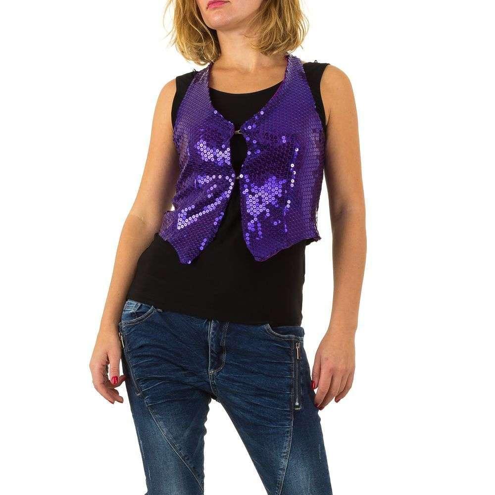 Женский жилет с пайетками от бренда Amys Paris (Франция), Фиолетовый