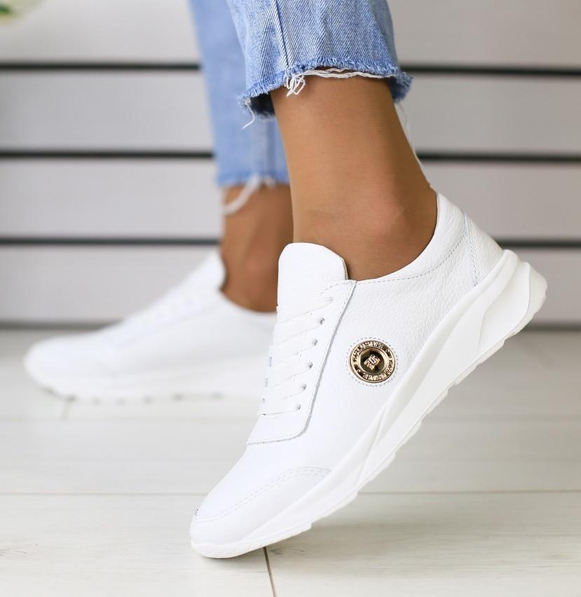eac1e65c Модные женские кожаные кроссовки кеды на танкетке на платформе белые 2019  SV23ON29IR
