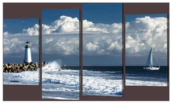 Модульная картина Interno Холст Маяк в Море  94x56см (R866S)