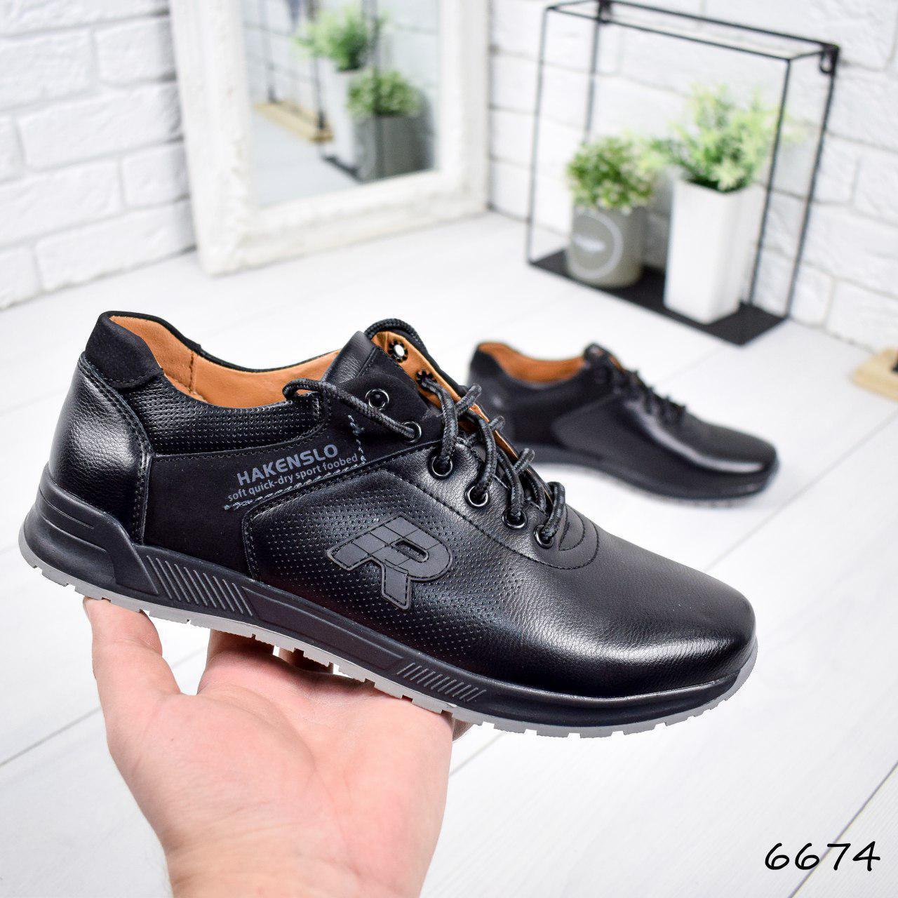 """Кроссовки мужские, черные в стиле """"Reebok"""" эко кожа, мокасины мужские, кеды мужские, мужская обувь"""