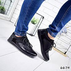 """Кроссовки мужские, черные в стиле """"Reebok"""" эко кожа, мокасины мужские, кеды мужские, мужская обувь, фото 2"""