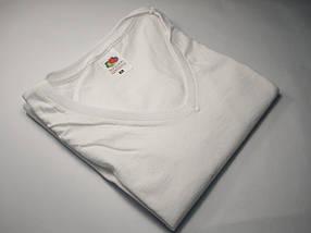 Жіноча футболка з V-подібним вирізом 61-398-0 Футболка, XL, Без малюнків і написів, Приталений, V-подібний, Білий