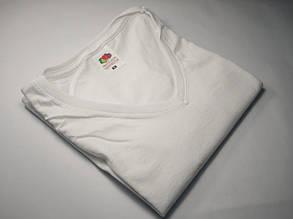 Женская футболка с V-образным вырезом 61-398-0 Белый, XL, фото 2