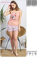 Комплект женский пижама из майки и шорт  VIENETTA