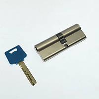Цилиндр VEGA VP-7 54 мм 27x27 ключ/ключ никель сатин