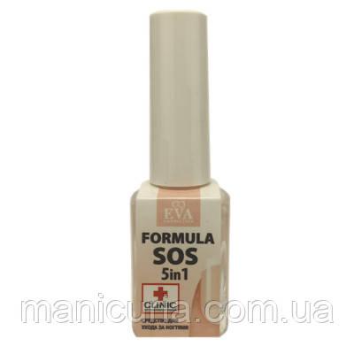 Засіб для догляду за нігтями EVA SOS Formula 5 in 1, 12 мл