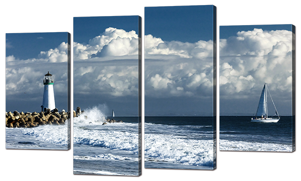 Модульная картина Interno Холст Маяк в Море 140x89см (R866XL)