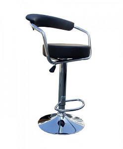 Барный стул Марсель черный кожзам от SDM Group, стул визажиста
