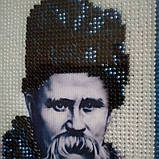 Картина вишита бісером Т. Г. Шевченка., фото 3