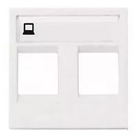Розетка компьютерная 8 контактов двойная категория 5Е (белый), Zenit ABB NIESSEN, 1 мод