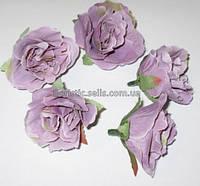 Головка розы 4,5 см, лавандовый прованс