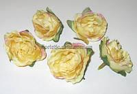 """Головка розы 4,5 см, кремовый """"прованс"""""""