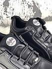 Женские кроссовки на платформе Buffalo London 1339 Black Platform Sneakers Буффало Лондон черные, фото 6