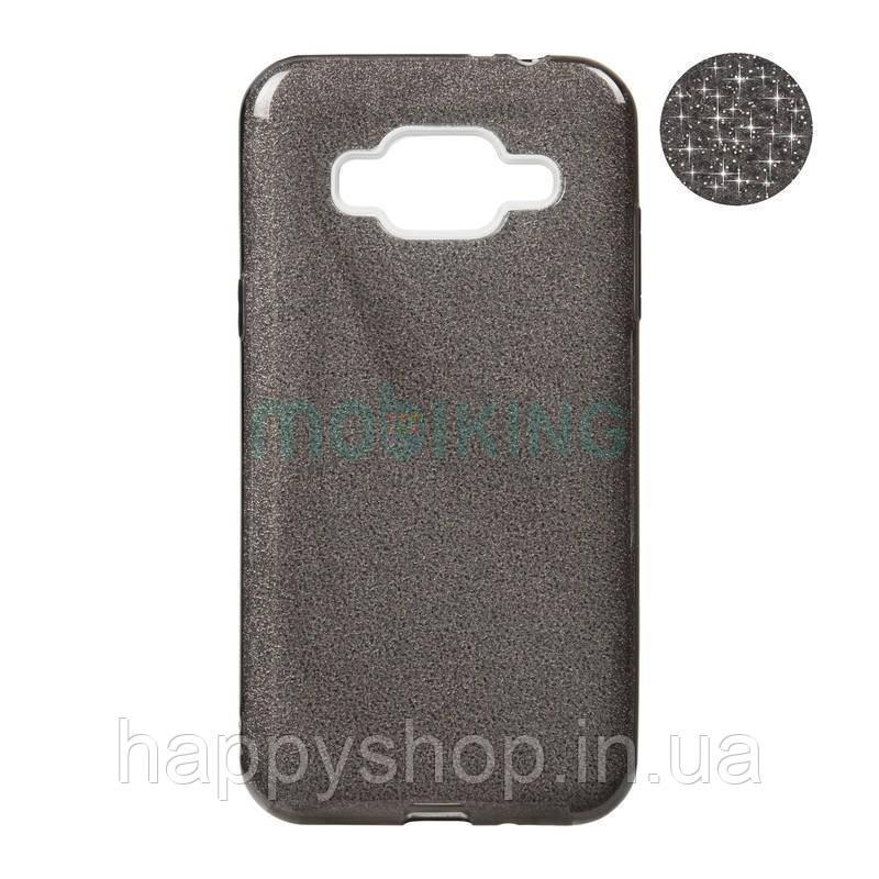 Чохол-накладка Remax з блискітками для Samsung Galaxy J2 2018 (J250) Black