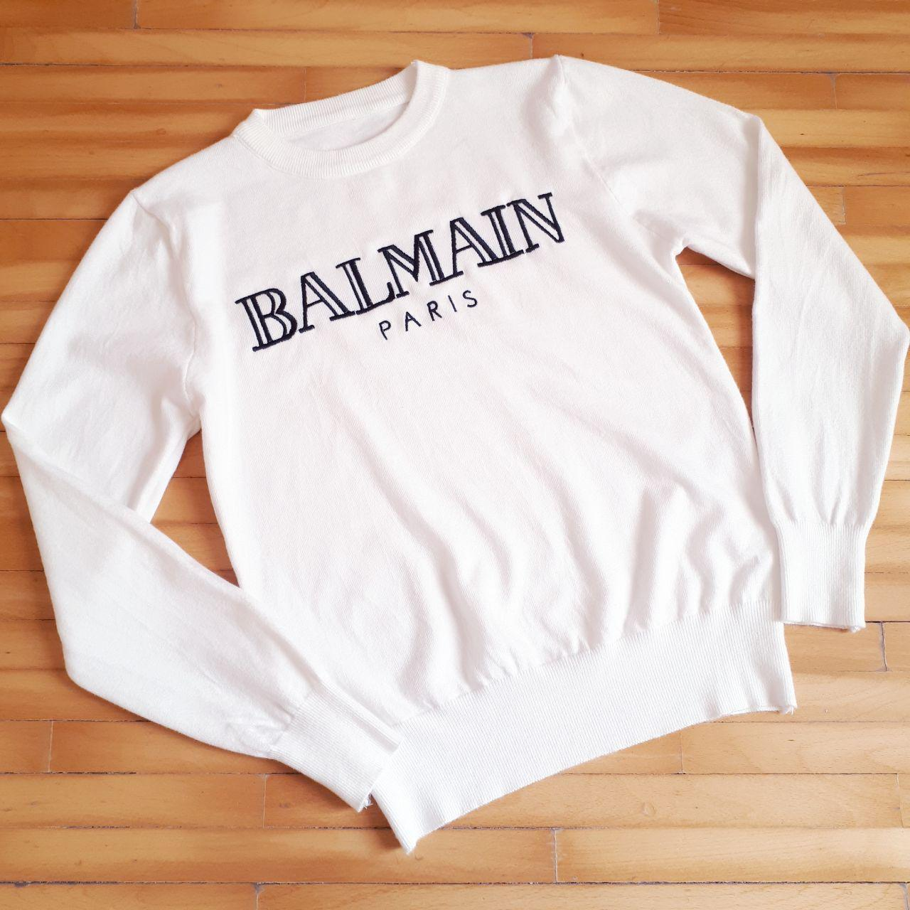Свитер Balmain  белый, фото 1