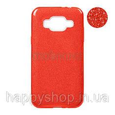 Чехол-накладка Remax с блестками для Samsung Galaxy J2 2018 (J250) Red