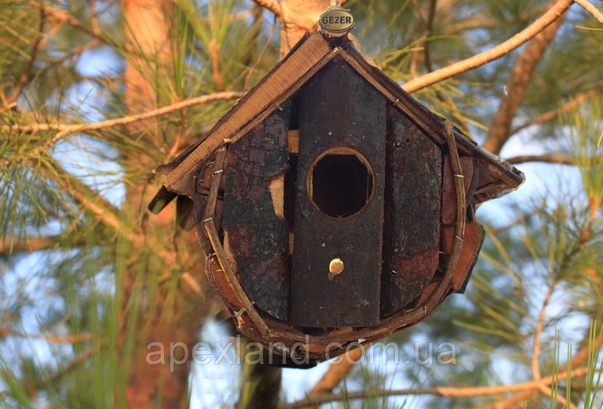 Домик для птиц, синичник, птичий домик  20х 20 х15 см