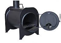 Буржуйка с камерой дожига вторичных газов KOZAK