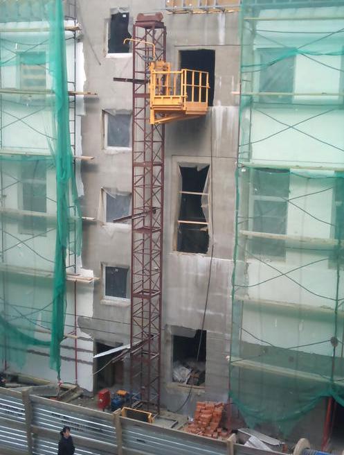 Подъемник строительный грузовой мачтовый