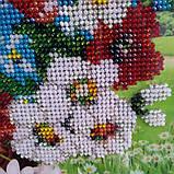 """Картина вишита бісером """"Польові квіти"""". Маки і ромашки., фото 3"""