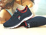 Мужские кроссовки Fila (реплика) синие 43 р., фото 8