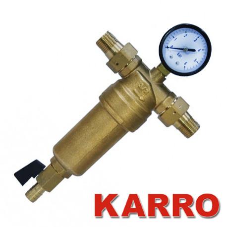 """Самопромывной фильтр Karro 1/2"""" для горячей воды"""