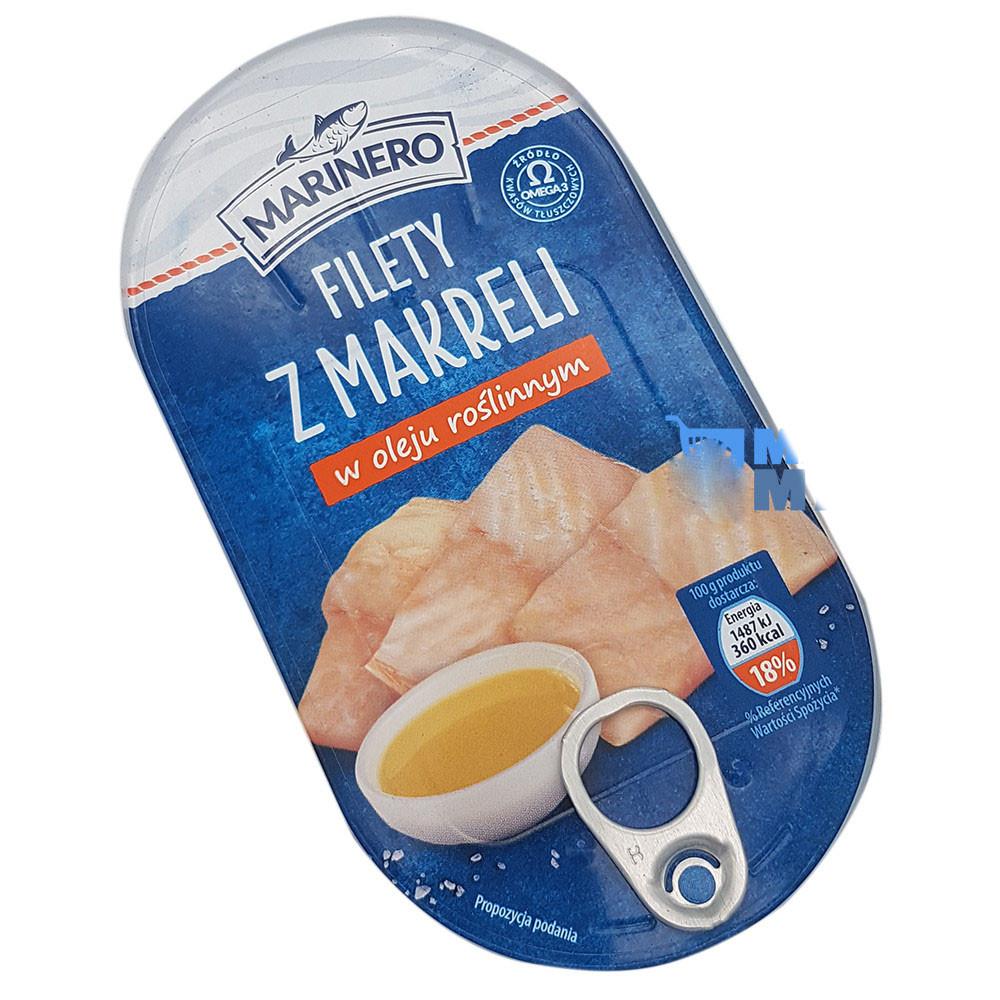 Филе скумбрии (макрели) в масле MARINERO, 170 гр