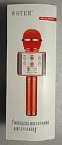 Колонка мікрофон Wireless Microphone WS-858 Gold, фото 2