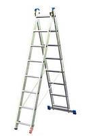 Двухсекционная расставная лестница KRAUSE Stabilo 2x9 ступеней, фото 1