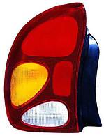 Фонарь задний Daewoo Lanos 1996-/Zaz Sens 2002- левый вертикальный, желт.поворотн 222-1916L-UE