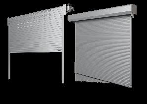 Ролетные ворота Wisniowski BR-100 алюминиевые промышленные, размер 3300х3300 мм