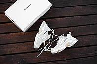 Мужские кроссовки Balenciaga Triple S в стиле баленсиага трипл с белые (Реплика ААА+)