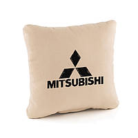 Подушка в авто Mitsubishi бежевый флок_склад