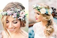 Весняні аксесуари для дівчат — обручі і вінки на голову