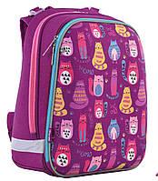 """Рюкзак школьный каркасный  «1 Вересня» """"Cute cats"""" H-12 арт.556024"""