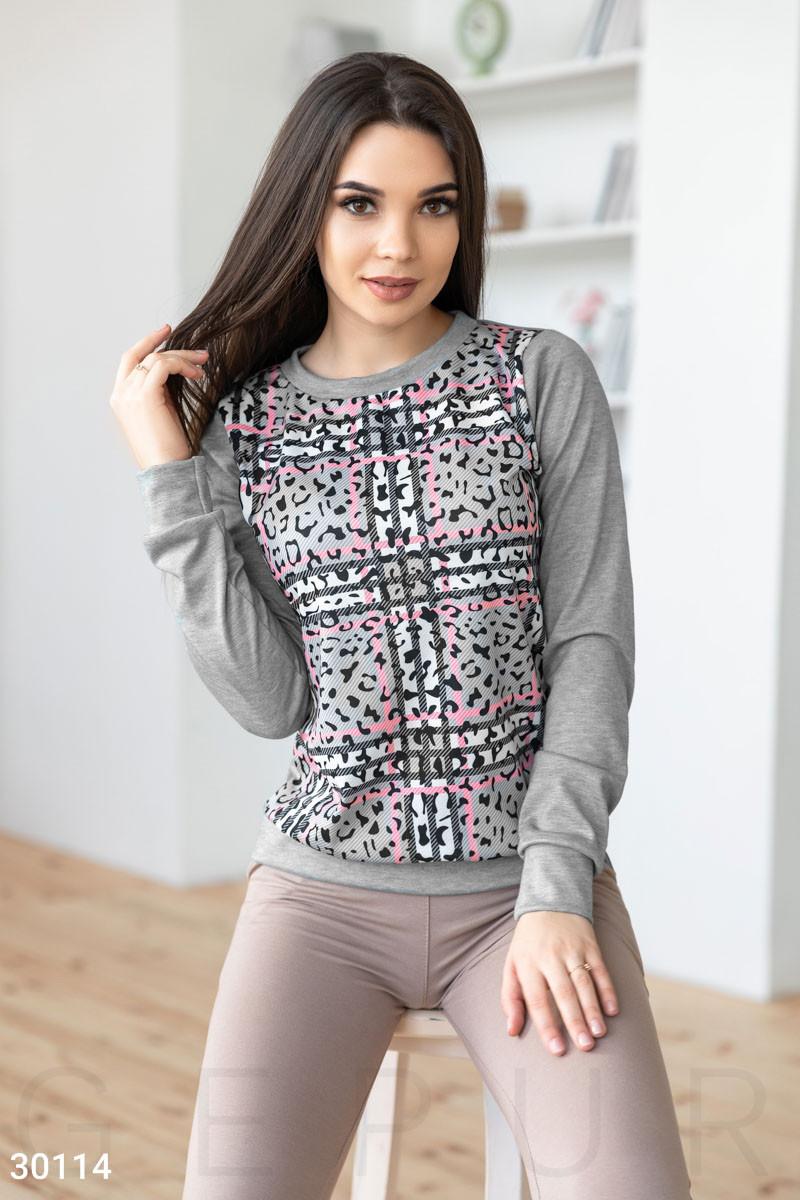 f22bcb0b Женский свитшот со звериным принтом - Модная одежда, обувь и аксессуары  интернет-магазин BeModa