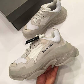 Женские кроссовки Balenciaga Triple S Clear Sole White/Grey, фото 2