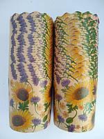 Бумажные формы для выпечки оптом 110*85 Цветы