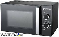 ⭐ Микроволновая печь GRUNHELM 23MX88-LB (черная) 23л, 800 вт, механическая (Грюнхельм)