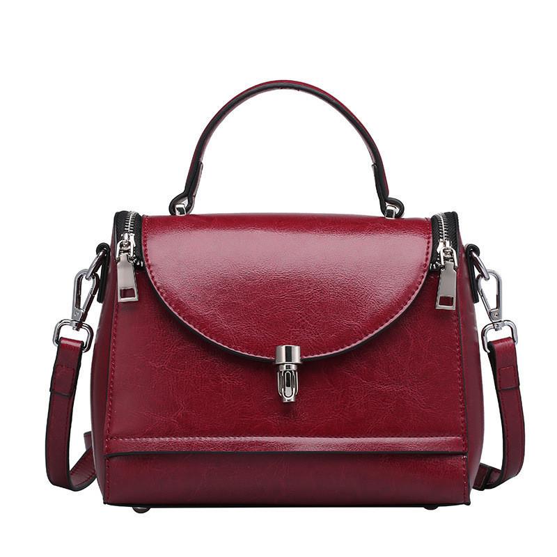 b836b24fccf2 Женская кожаная сумка среднего размера бордовая опт купить по ...