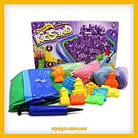 """Детский набор для творчества """"Кинетический песок + песочница KidSand"""" 1600 гр.Danko Toys (От 3 лет)"""