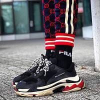 Мужские кроссовки Balenciaga Triple S многослойная подошва (Реплика ААА+)