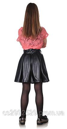 Детская юбка-бантовка черная, фото 2