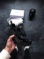 Мужские кроссовки Balenciaga Triple S Black многослойная подошва (Реплика ААА+), фото 1